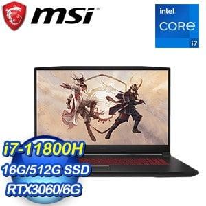 MSI 微星 Katana GF76 11UE-226TW 17吋電競筆電(i7-11800H/16G/512G SSD/RTX 3060-6G)