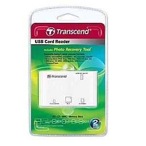 Transcend 創見 P8 讀卡機 多合一 白  附相片修復軟體